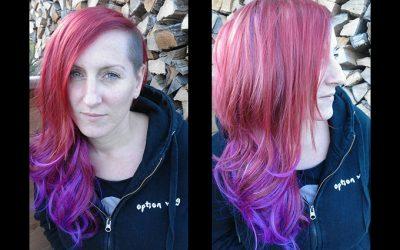 Peloco: zauberhafte Haarverlängerung mit rot, violetten xTensions aus hochwertigem Kunsthaar