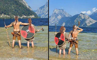 Peloco: Ich liebe diesen Vikings-Look und ihn auf den Köpfen umzusetzen 😍 Auch Bärte kann man zaubern mit Hilfe von Kunsthaar! Meine Freunde in Ebensee gründen gerade einen Vikings-Verein. Ich wünsche ihnen viele schöne Erlebnisse und mögen sich viele coole Menschen zusammentun... und hoffentlich darf ich vielen schönen Vikinger einen geilen Kopf-Haarschmuck zaubern 😉