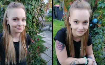 Peloco: Nina's Dreads wurden vor kurzem ausfrisiert, die ehemals schwarz gefärbten Längen ('Überbleibsel') im eigenen Haar aufgehellt und mit russischen Echthaar verlängert! Was für ein Wahnsinnsunterschied 😍