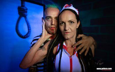 Franky's Peloco Flash: Tröstliches Doppelportrait unserer beiden Dreadheads Christina und Max vor der Exekution im Boomerrang Aktionpark. (Copyright by: FotoFrank)